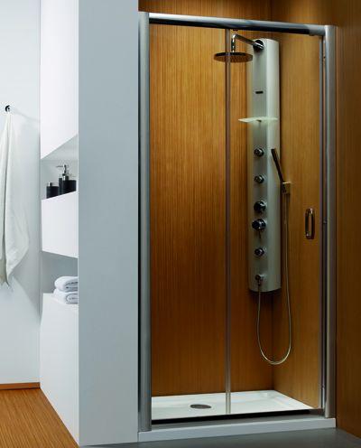RADAWAY Premium Plus DWJ 130x190 zuhanyajtó / 01 átlátszó üveg / 33333-01-01N