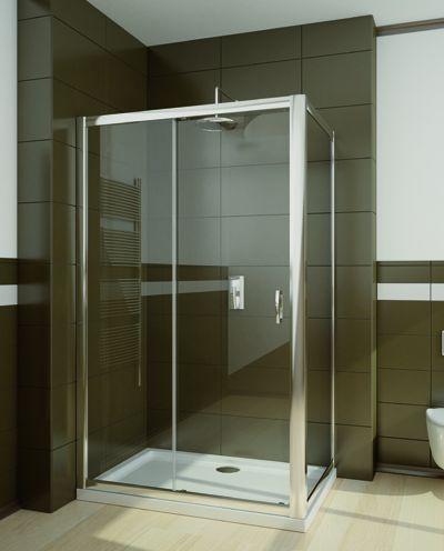 RADAWAY Premium Plus DWJ+S 140 zuhanyajtó 140x190 / 08 barna üveg / 33323-01-08N