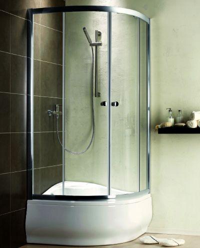 RADAWAY Premium A 1700 negyedköríves zuhanykabin 80x80 / 05 grafit üveg / 30411-01-05