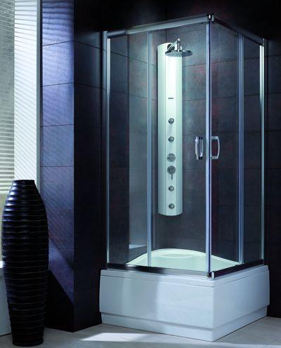 RADAWAY Premium Plus C1700 szögletes zuhanykabin 80x80 / 08 barna üveg / 30461-01-08N