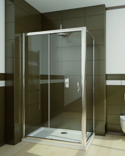 RADAWAY Premium Plus DWJ+S 110 zuhanyajtó 110x190 / 01 átlátszó üveg / 33302-01-01N