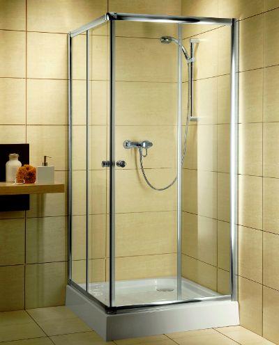 RADAWAY Dolphi Classic C 80 1850 szögletes zuhanykabin 80x80 cm-es, fehér keret / barna üveg, 30060-04-08