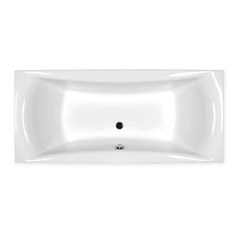 M-Acryl AMANDA 180x80 cm egyenes akril kád + Comfort 6+4+2 vízmasszázs, pneumatikus vezérléssel