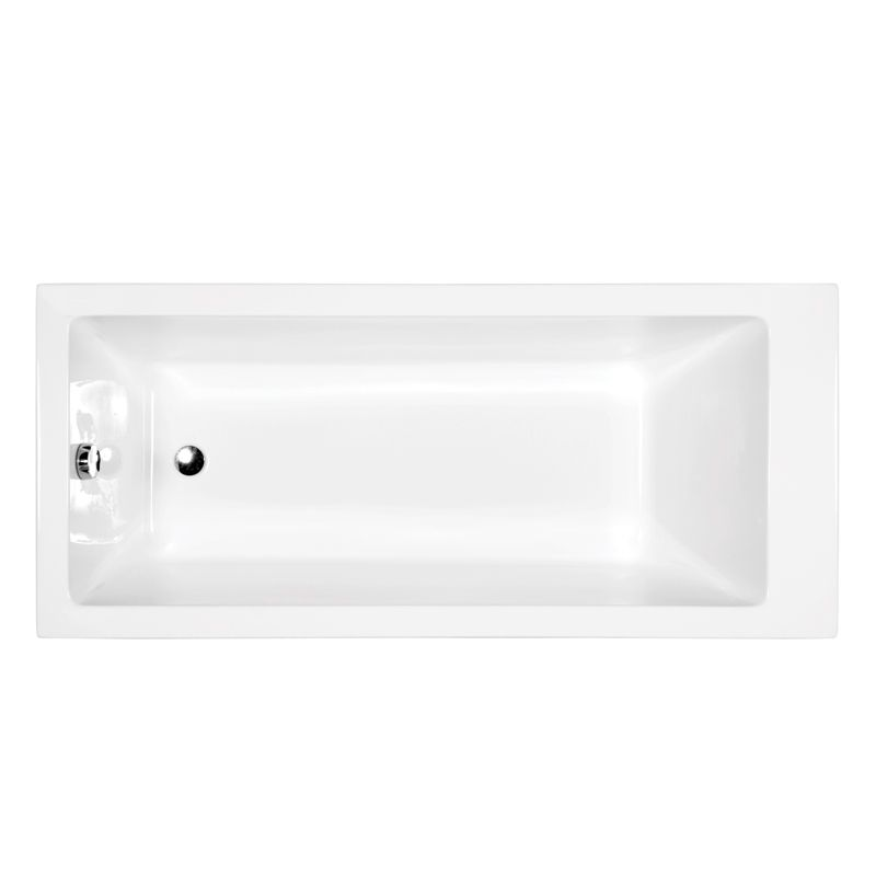 M-Acryl NIKITA 170X75  cm egyenes akril kád + Basic 4+4+2 vízmasszázs, pneumatikus vezérléssel