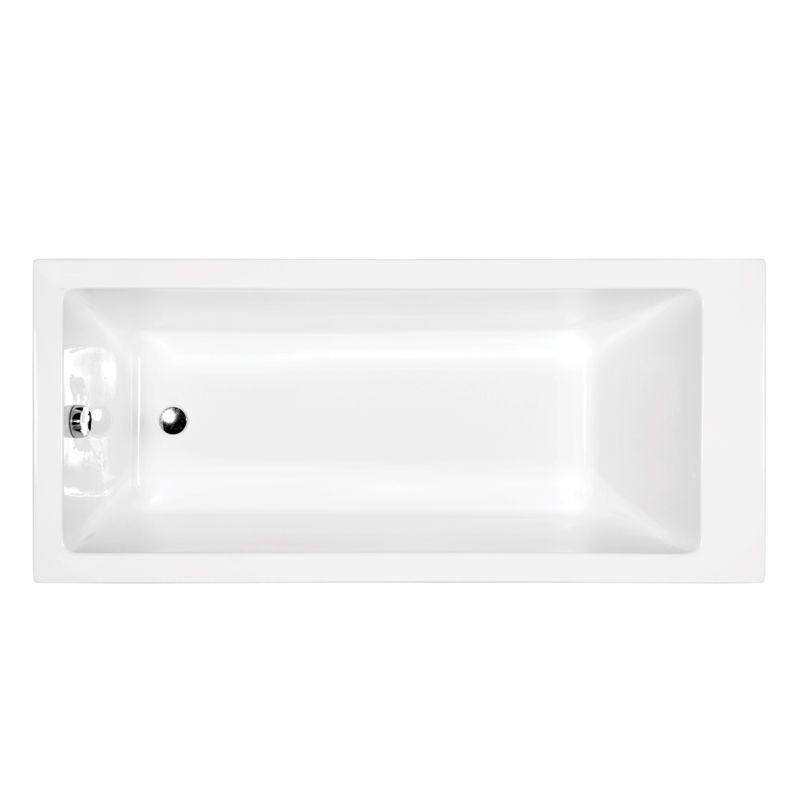 M-Acryl NIKITA 180x80 cm egyenes akril kád + Wellness Premium 24 fúvókás Masszázsrendszer,  elektronikus  vezérléssel