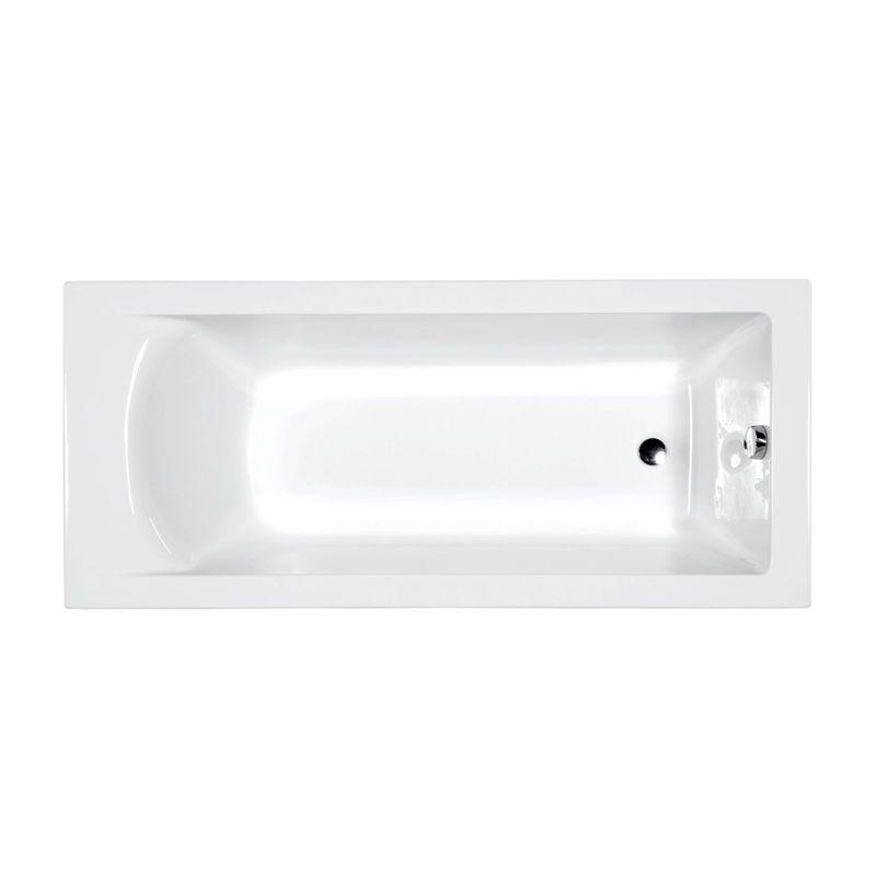 M-Acryl FRESH 170x75 egyenes akril kád + Basic 4+4+2 vízmasszázs, pneumatikus vezérléssel