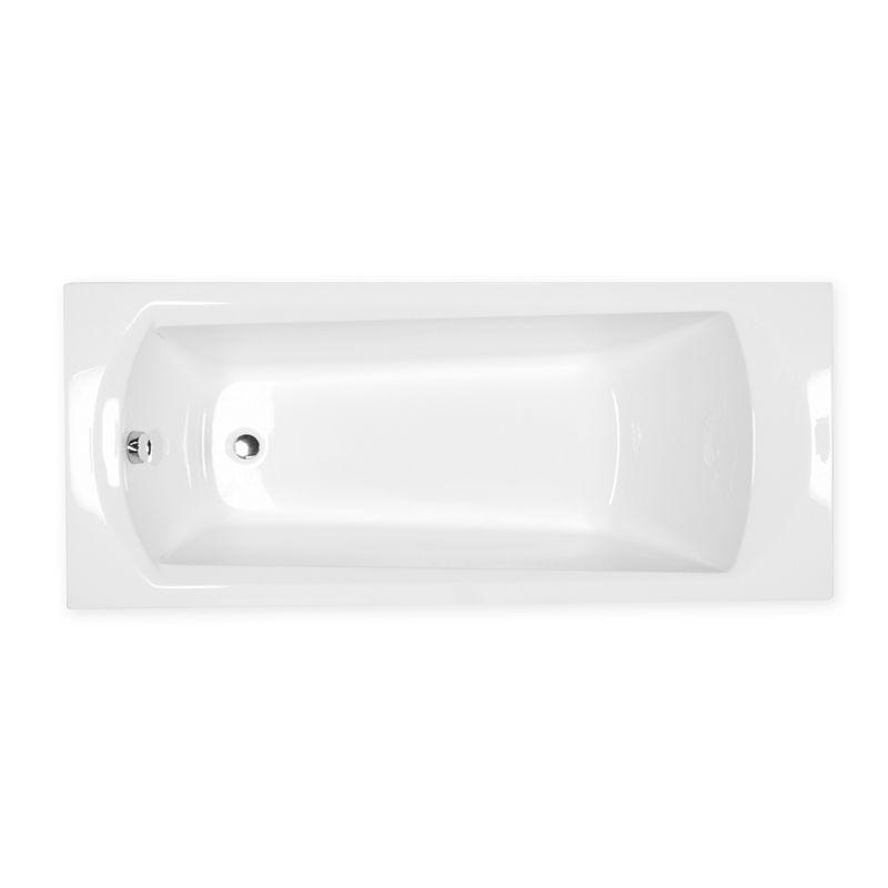 M-Acryl TAMIZA 170x75 egyenes akril kád + Wellness 22 fúvókás Masszázsrendszer, elektronikus  vezérléssel