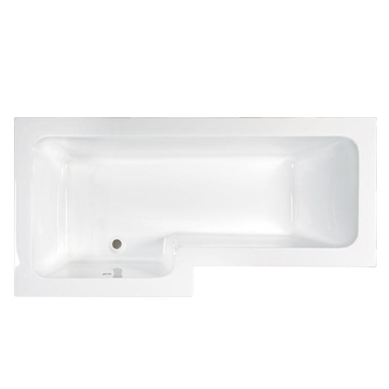 M-Acryl LINEA 150X70/85 aszimmetrikus akril kád + Basic 4+4+2 vízmasszázs, pneumatikus vezérléssel