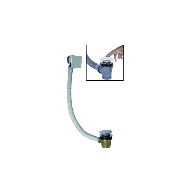 M-Acryl Vízfeltöltős, Click+Clack-os le és túlfolyó, szögletes, króm