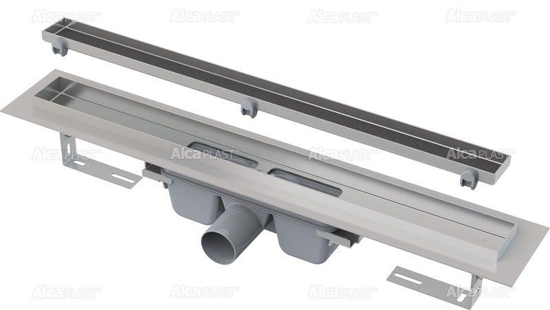 AlcaPLAST  APZ7 Floor-950 zuhanyfolyóka peremmel / rács behelyezésére / alaptest