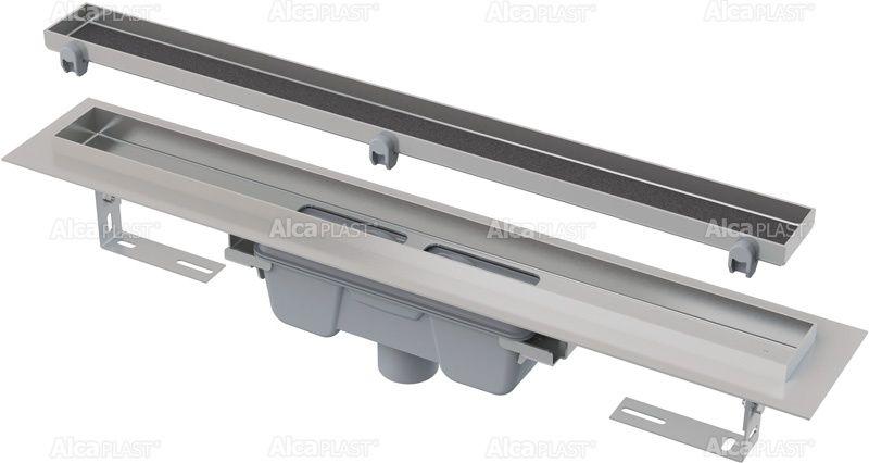 AlcaPLAST  APZ1007 Floor-300 Zuhanyfolyóka peremmel / burkolható rácshoz / függőleges lefolyóval / alaptest