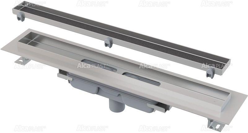 AlcaPLAST  APZ1107-FLOOR-550 Floor Low / Zuhanyfolyóka peremmel / burkolható rácshoz / függőleges lefolyóval