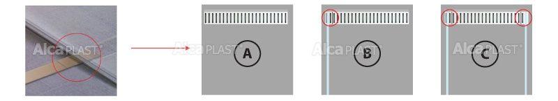 AlcaPLAST  LINE-100L  kiegészítő rács
