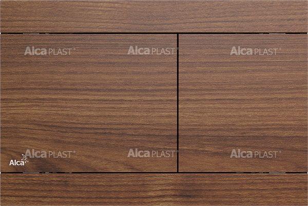 AlcaPLAST FUN TEAK Nyomólapok falba építhető rendszerekhez, fém-matt