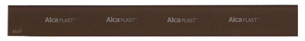 AlcaPLAST  GL1203-950 GLASS  Barna üveg rács 950 mm zuhanyfolyókához