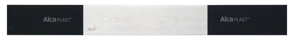 AlcaPLAST  GP1204-750 GLASS POSH  Fekete, matt üveg rács, rozsdamentes acélból 750 mm zuhanyfolyókához