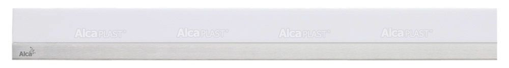 AlcaPLAST  MP1200 -850 MINERAL POSH  fehér műkő rács, matt, rozsdamentes acélcsíkkal 850 mm zuhanyfolyókához