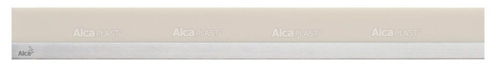 AlcaPLAST  MP1206 -950 MINERAL POSH  homok színű műkő rács, matt, rozsdamentes acélcsíkkal 950 mm zuhanyfolyókához