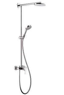 HansGrohe Raindance S 180 Showerpipe egykaros csapteleppel EcoSmart / 460 mm-es zuhanykarral / DN15 / króm / 27191000 / 27191 000