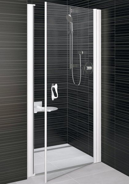 RAVAK Elegance ESD1-90 Egyrészes balos zuhanyajtó fehér kerettel / TRANSPARENT edzett biztonsági üveggel 90 cm / 0EL70100Z1