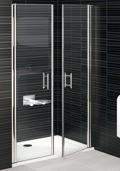 RAVAK Elegance ESD2-120 Kétrészes zuhanyajtó fehér kerettel / TRANSPARENT edzett biztonsági üveggel 120 cm / 0HVG0100Z1