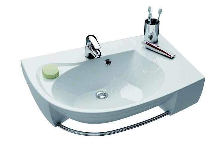 RAVAK Rosa Comfort Plus jobbos, fehér mosdó, furattal, 78x55 cm, XJ0L1100000