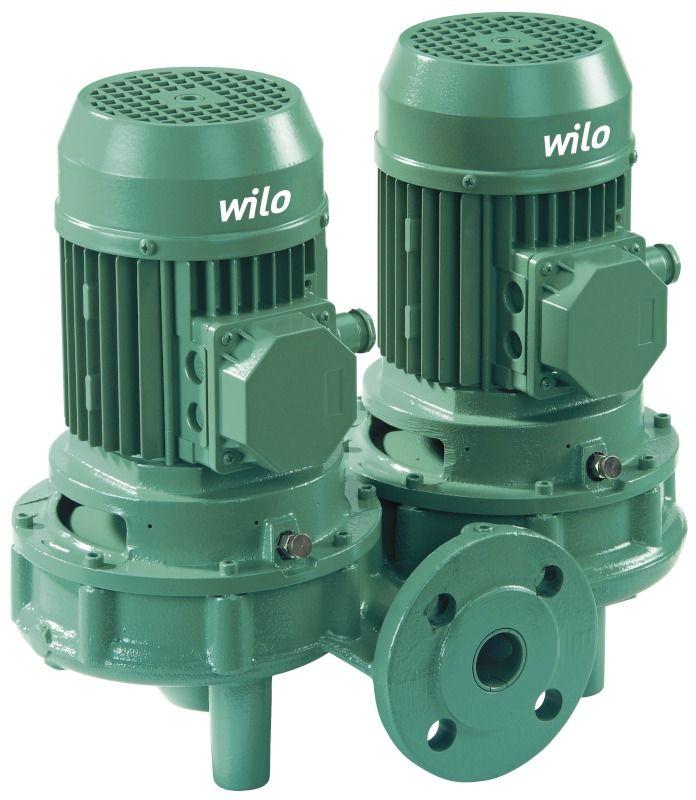 WILO VeroTwin DPL 80/155-7,5/2 Száraztengelyű szivattyú in-line kivitelben karimás csatlakozással / 2089675