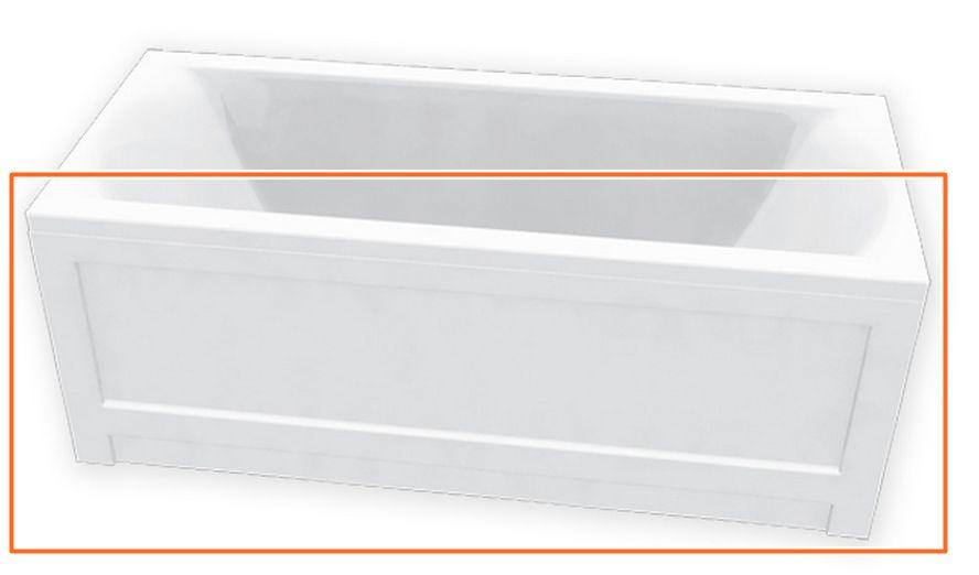 M-Acryl HELENA 150x70 cm egyenes akril kádhoz előlap