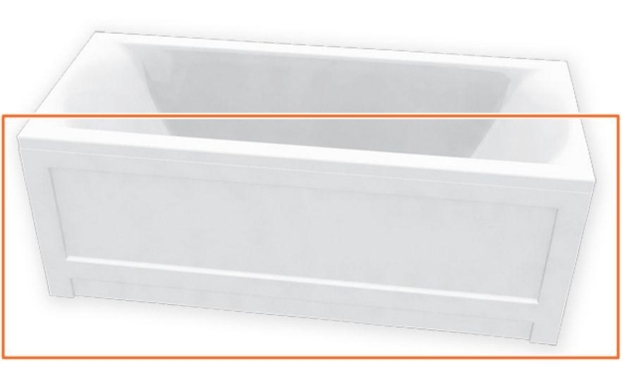 M-Acryl HELENA 160x70 cm egyenes akril kádhoz előlap