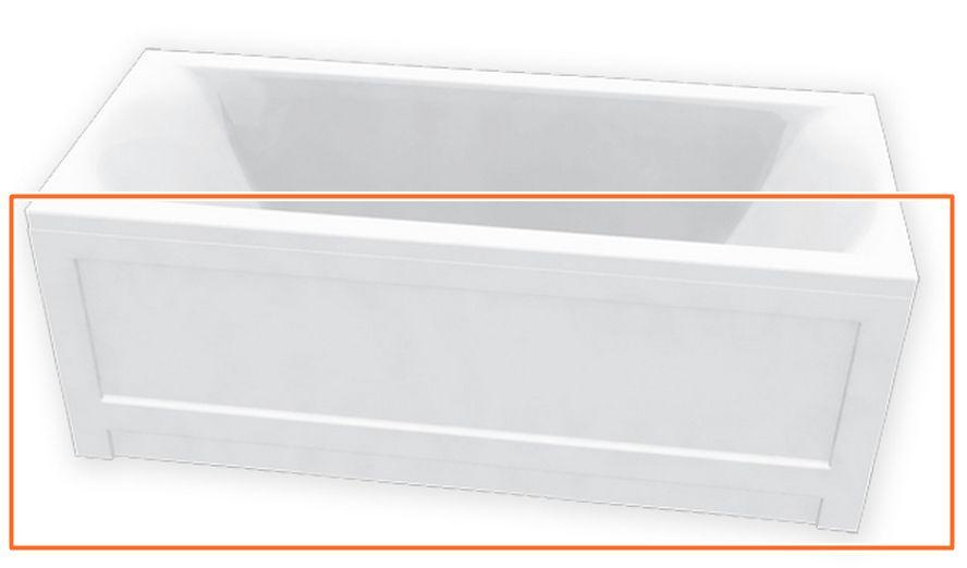 M-Acryl HELENA 170x70 cm egyenes akril kádhoz előlap