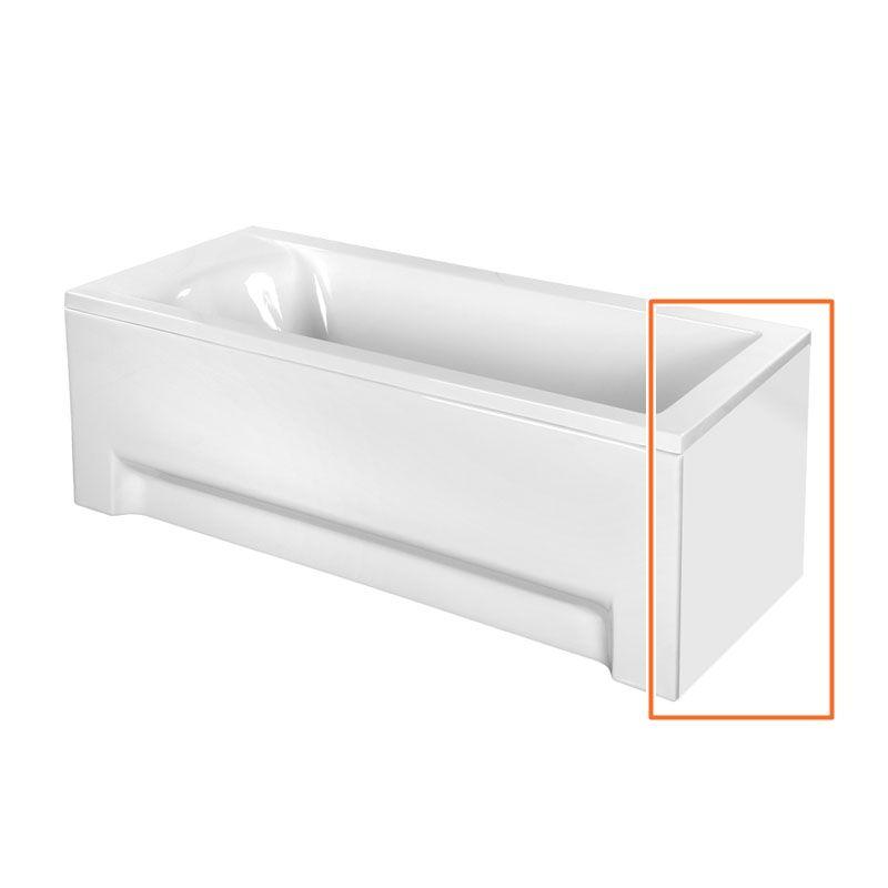 M-Acryl FRESH 180X80 cm egyenes akril kádhoz oldallap