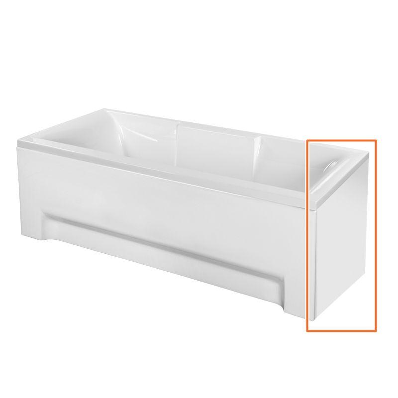 M-Acryl CRYSTAL 180x80 cm egyenes akril kádhoz oldallap