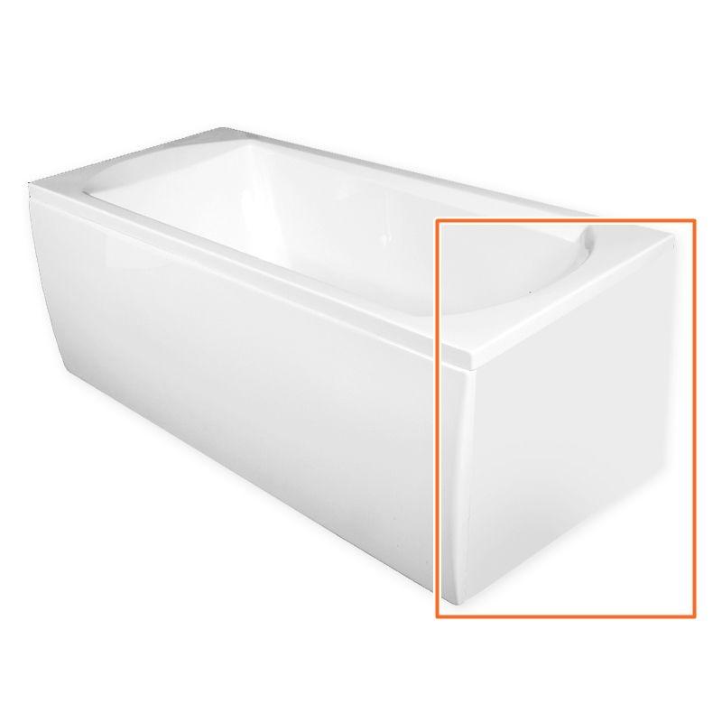 M-Acryl TAMIZA 170x75 cm egyenes akril kádhoz oldallap