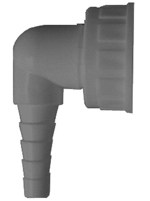 HL19.G Tömlővég csatlakozókönyök 1'x3/4', krómozva