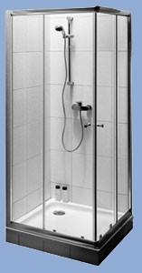 Alföldi Miron 80x90x195 cm-es  Téglalap alakú zuhanyfülke / Króm profillal / UDW8090NAU120RP-61