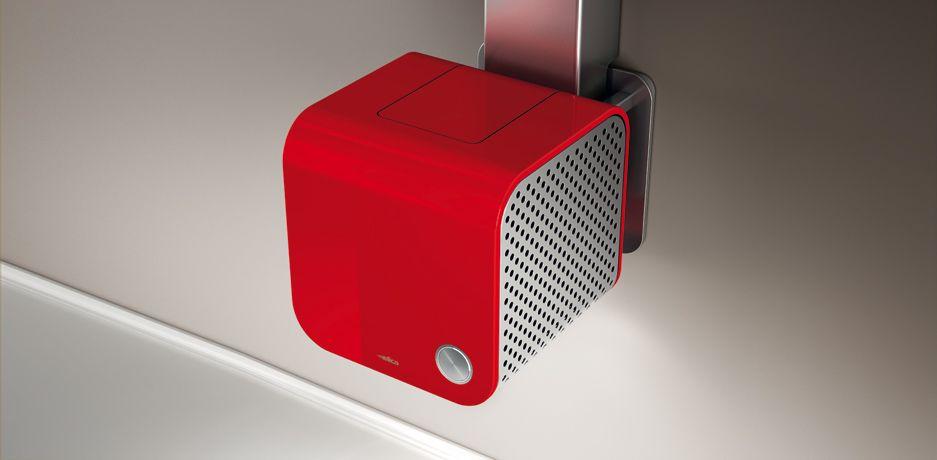 Elica 35CC ISLAND DYNAMIQUE design / designer páraelszívó, szagelszívó, piros
