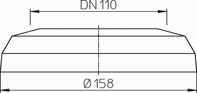 HL7EL.BL WC-rozetta DN110 Elastik, bermudablau