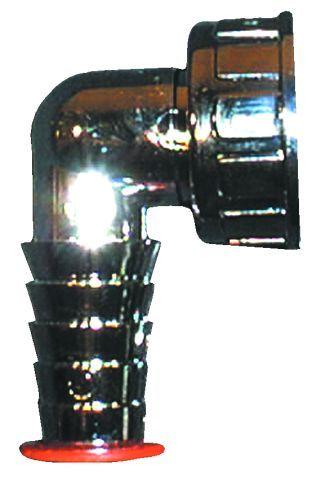 HL19.C Tömlővég csatlakozókönyök 1'x3/4', krómozva
