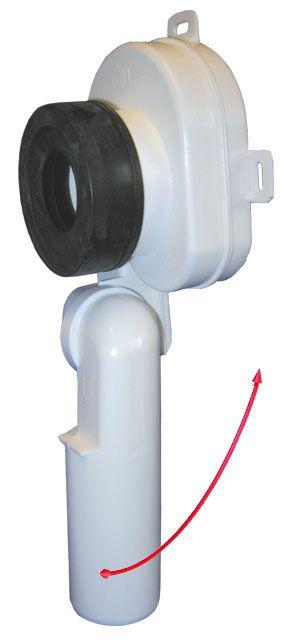HL430/50 Vizeldeszifon, DN50 elfordítható kimenettel