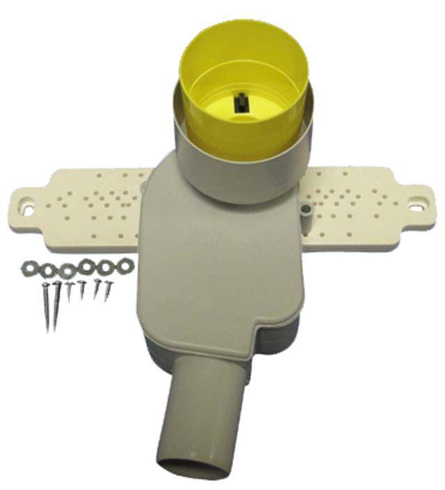 HL134.2/50 Mosdószifon (falba süllyesztve) szerelvény DN50 (HL134.0 + HL44)