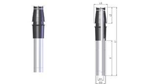Tricox PATH057C PPs/Alu tetőátvezető hosszabbító cső, 110/160mm, hossz 1000mm, EconeXt
