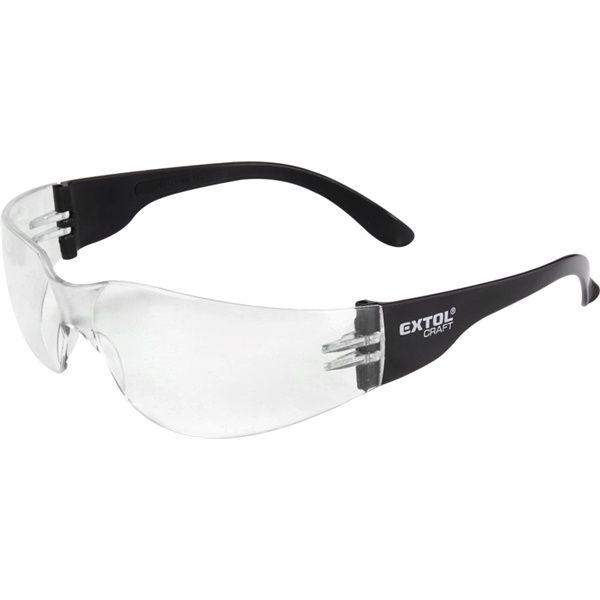 EXTOL CRAFT védőszemüveg, víztiszta, polikarbonát, CE, optikai osztály: 1, ütődés elleni védelmi osztály: F / 97321 (MB)