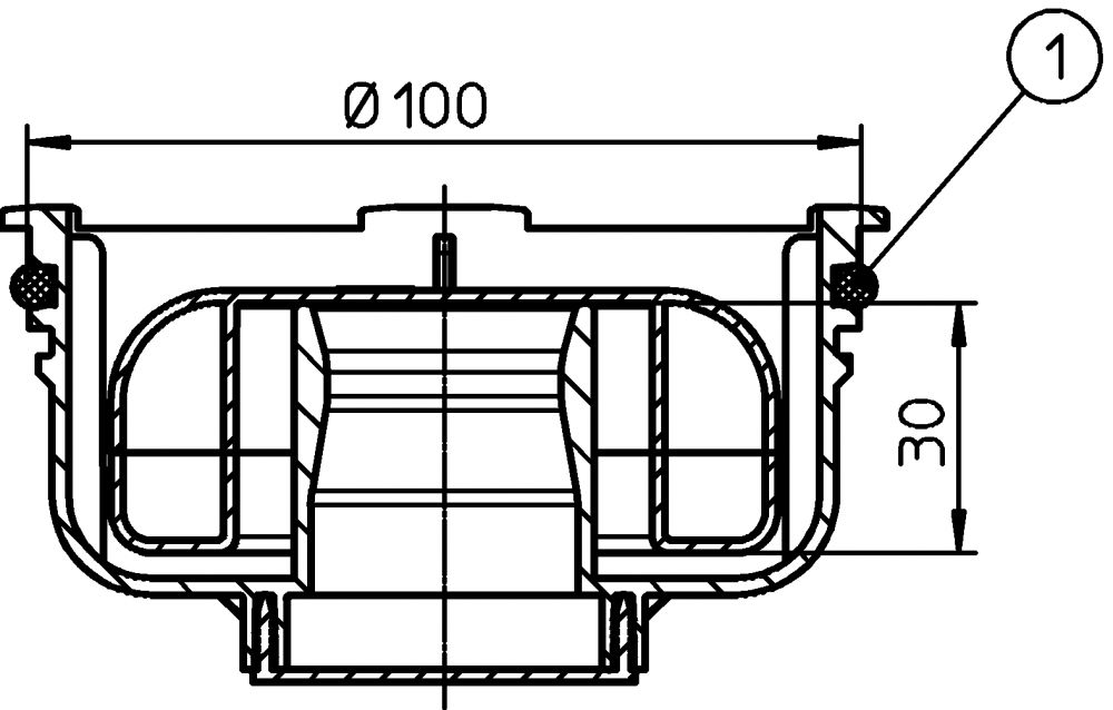 """HL2090KK Primus kiszáradás-védett bűzzár (alacsony), a """"KLICK-KLACK"""" rácstartó kerethez"""