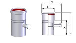 Tricox AKL20F Alu kondenzátum leválasztó 80mm, fehér