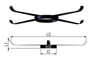 Tricox FKP805 Központosító flexibilis rendszerhez, Ø110 mm, 5 db/csomag