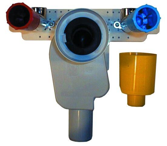 HL134.0/40 Mosdószifon falba süllyesztve DN32x5/4' kihúzható búvárcsővel