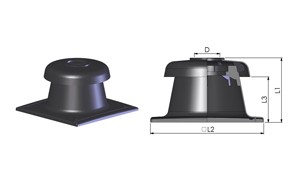 Tricox KF90 Kürtő fedél fekete 160mm