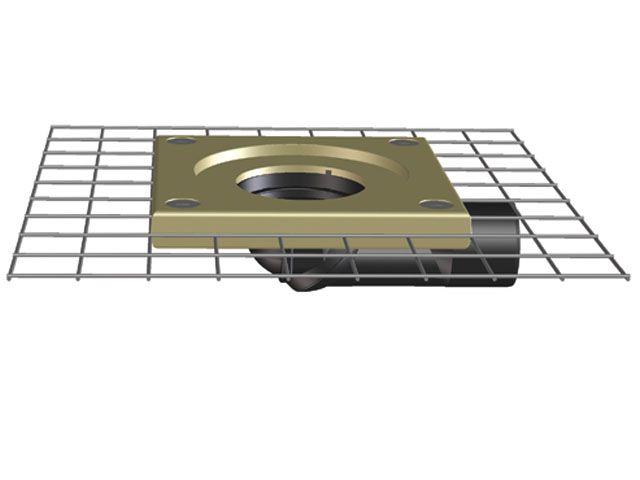 HL80CK Balkon- és teraszlefolyó test DN50/75 elfordítható kimenettel, polymerbeton szigetelő karimával