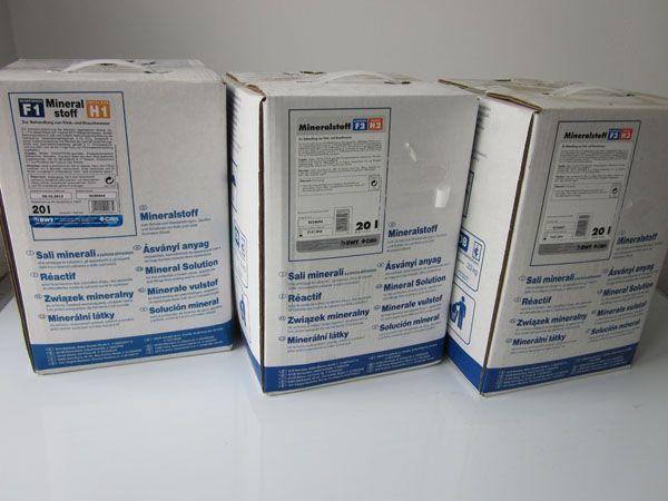 BWT,Bewados adagolástechnika ásványi anyag adagolásásra, Bewados E3 modulhoz, Quantophos Mineralstoff F/E / HE 4X3 kg i.UMK, Cikkszám: 18026