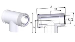 Tricox PET90 PPs ellenőrző T-idom 160mm
